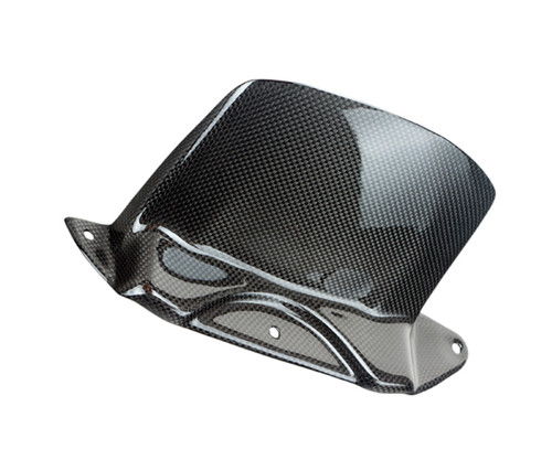 Rear Hugger in Glossy Plain Weave Carbon Fiber for Yamaha R6 99-02