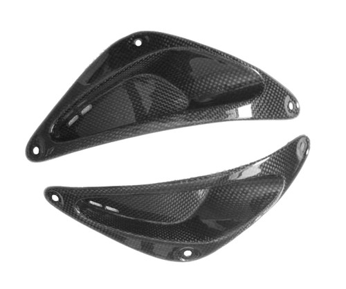 Frame Inserts in Glossy Plain Weave Carbon Fiber for Yamaha R6 99-02