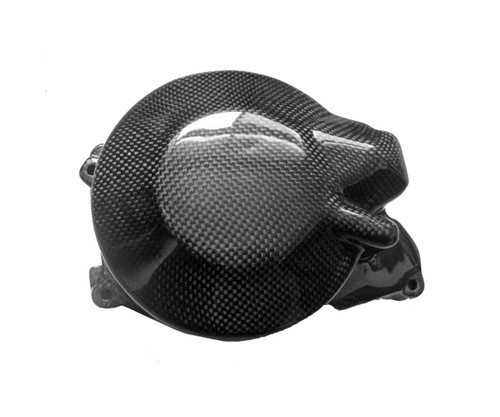 Alternator Cover Guard in Glossy Plain Weave Carbon Fiber for Yamaha R6 99-02