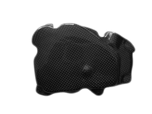 Oil Pump Cover Guard in Glossy Plain Weave Carbon Fiber for Yamaha R6 99-02