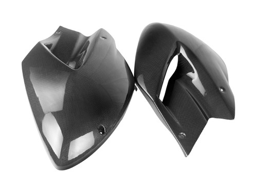 Side Panels in Glossy Plain Weave Carbon Fiber for Yamaha TDM 900 2001-2010