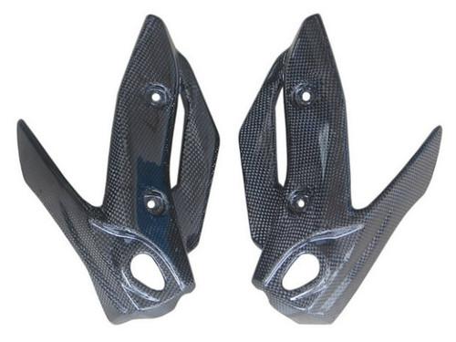 Headlight Fairings in Glossy Plain Weave Carbon Fiber for Yamaha XJ6 2009-2012