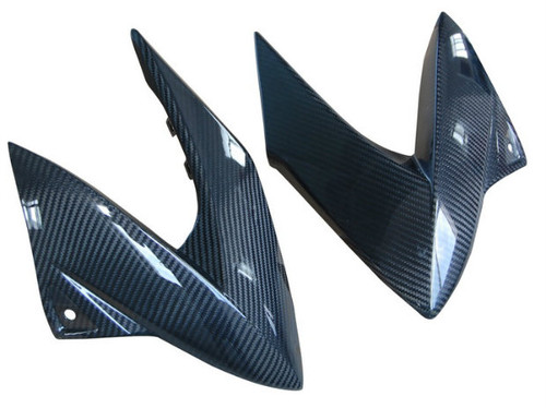 Side Fairings in Glossy Twill Weave Carbon Fiber for Yamaha XJ6 2009-2012