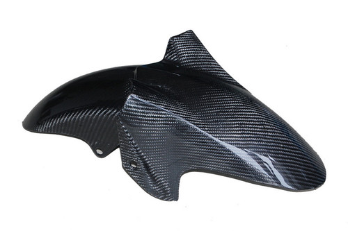 Front Fender in Glossy Twill Weave Carbon Fiber for Yamaha FZS1000 2001-2005