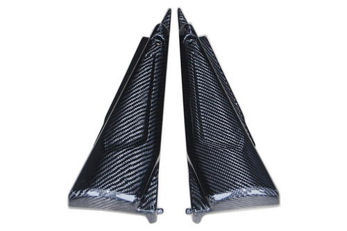 Side Panels in Glossy Twill Weave Carbon Fiber for Yamaha FZS1000 2001-2005