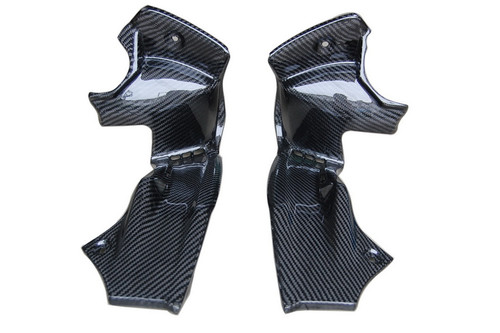 Front Panels in Glossy Twill Weave Carbon Fiber for Yamaha FZS1000 2001-2005
