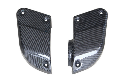 Air Intake Covers in Glossy Twill Weave Carbon Fiber for Yamaha FZS1000 2001-2005