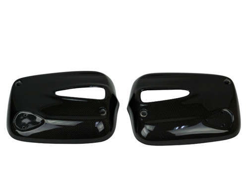 Valve Cover Guards in Glossy Plain Weave Carbon Fiber for BMW R1100S