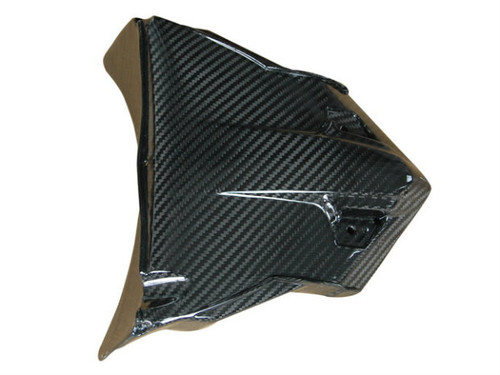 License Plate Holder in Glossy Twill Weave Carbon Fiber for BMW F700