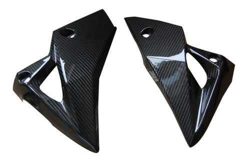 Belly Pan in Glossy Twill Weave Carbon Fiber for Kawasaki Z800