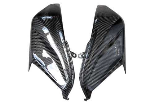 Front Fairing Sides in Glossy Twill Weave Carbon Fiber for Kawasaki Z800