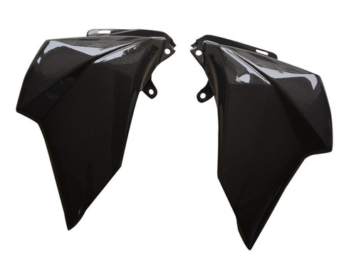 Front Side Fairings in Glossy Plain Weave Carbon Fiber for Kawasaki Z800