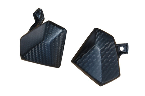 Knee Fairing Inserts in GlossyTwill Weave Carbon Fiber for Kawasaki Z800