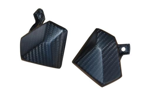 Knee Fairing Inserts in GlossyTwill Weave Carbon Fiber for Kawasaki Z800