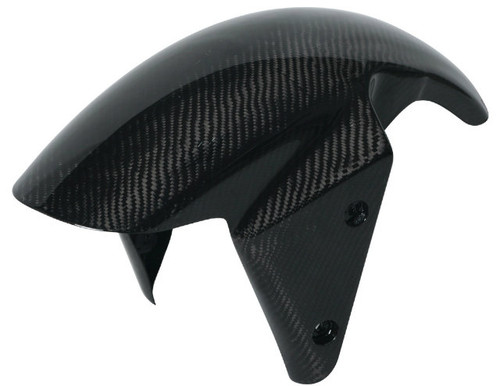 Front Fender in Glossy Twill Weave Carbon Fiber for Kawasaki Z750 07-12