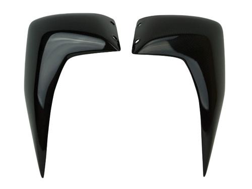 Side Covers in Matte Plain Weave Carbon Fiber for Kawasaki Z750 07-12