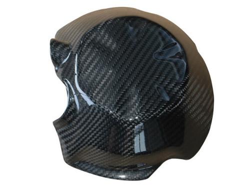 Alternator Cover Guard ( style 2) in Glossy Twill Weave Carbon Fiber for Kawasaki Z750 07-12