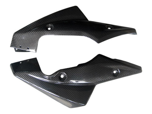Belly Pan in Glossy Twill Weave Carbon Fiber for Kawasaki Z750R 07-12