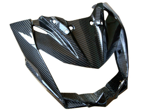 Front Fairing in Glossy Twill Weave Carbon Fiber for Kawasaki Z750R 07-12