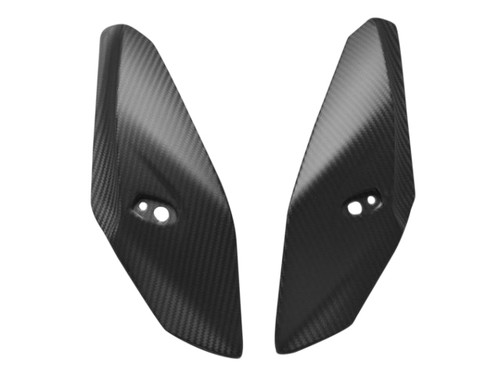 Upper Fairing Sides in Matte Twill Weave Carbon Fiber for BMW S1000R 2014+