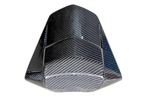 Rear Seat Cover in Glossy Twill Weave Carbon Fiber for Yamaha R1 07-08