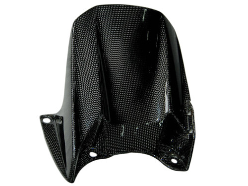 Rear Hugger in Glossy Plain Weave Carbon Fiber for Yamaha R1 04-06