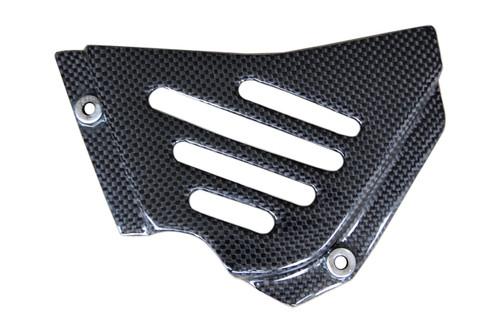Sprocket Cover in Glossy Plain Weave Carbon Fiber for Ducati 748, 916, 996, 998,749, 999, SS600, SS750, SS800, SS900, SS1000, Monster  S2R, S4R, Monster 95-07