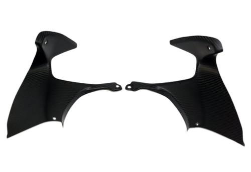 (Top Half) Dash Panel Fairings Set in Matte Twill Weave Carbon Fiber for Suzuki GSX1300 R Hayabusa 99-07