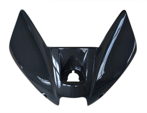 Tank Cover in Glossy Plain Weave Carbon Fiber for Kawasaki ER-6(F,N)- Ninja 650 2012-2016