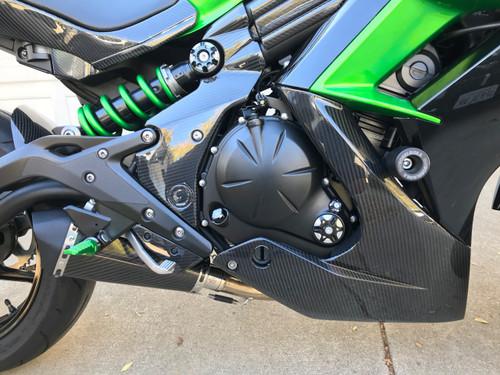 Frame Covers in Glossy Twill Weave for Kawasaki ER-6(F,N)- Ninja 650 2012-2016