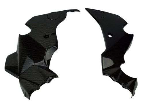 Frame Covers in Carbon Fiber for Kawasaki ER-6(F,N)- Ninja 650 2012-2016