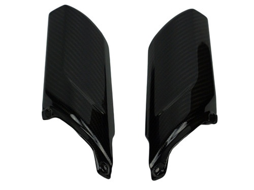 Fork Covers in Glossy Twill Weave Carbon Fiber for Kawasaki ER-6N 2012-2016