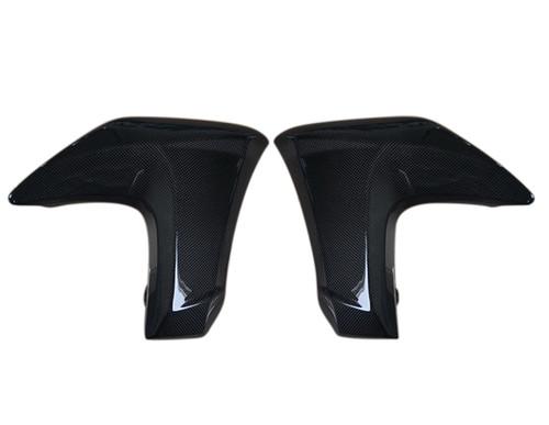 Radiator Covers in Glossy Plain Weave Carbon Fiber for Kawasaki ER-6N 2012-2016
