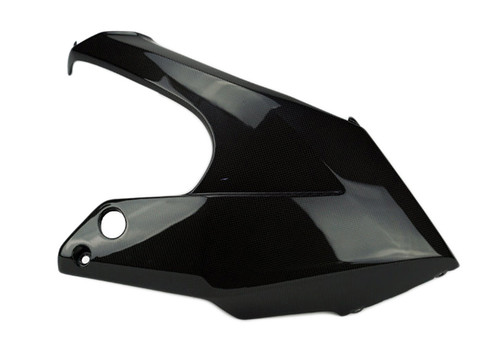 Belly Pan Fairing in Glossy Plain Weave Carbon Fiber for Kawasaki ER-6F- Ninja 650 2012-201