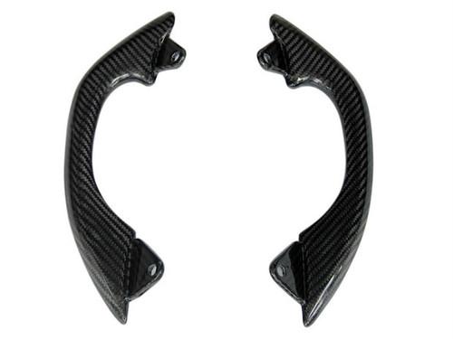 Passenger Handles in Glossy Twill Weave Carbon Fiber for Kawasaki ER-6F- Ninja 650 2006-2011