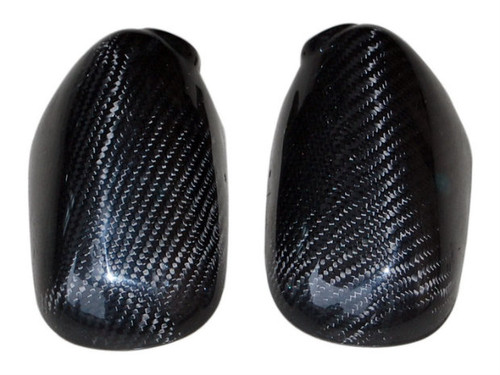 Mirror Covers in Glossy Twill Weave Carbon Fiber for Kawasaki ER-6F- Ninja 650 2006-2011