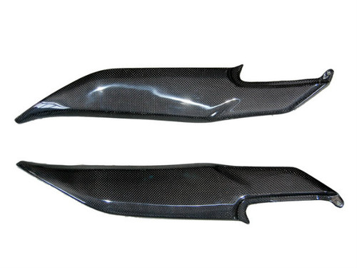 Side Tank Cover in Glossy Plain Weave Carbon Fiber for Kawasaki ER-6 (F,N) - Ninja 650R, 2009-2011