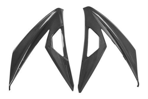 Large Side Panels in Glossy Plain Weave Carbon Fiber for Kawasaki Ninja 300, 250R 2013+