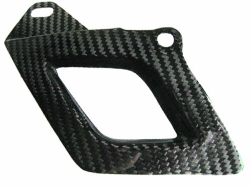 Glossy Twill Weave Carbon Fiber Lower Chain Guard for Aprilia RSV4 2009+ and Tuono V4 2011+