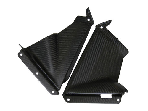 Matte Twill Weave Carbon Fiber Pullers for Aprilia RSV4 2009+