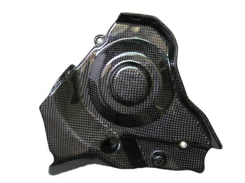 Glossy Plain Weave Carbon Fiber  Sprocket Cover for Aprilia RSV4 2009+, Tuono V4 2011+