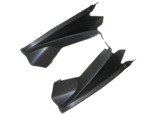 Upper Inner Fairings in Matte Twill Weave Carbon Fiber for Aprilia RSV4 2009-2011
