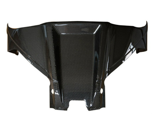Tank Cover in Glossy Plain Weave Carbon Fiber for Kawasaki ZX10R 2011+