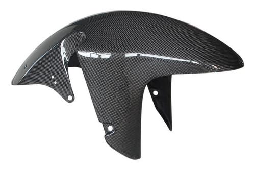 Front Fender in Glossy Plain Weave Carbon Fiber for Suzuki TL1000R, TL1000S