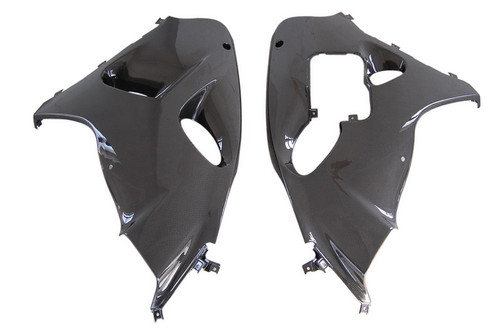 Large Side Panels in Glossy Plain Weave Carbon with Fiberglass for Suzuki TL1000R
