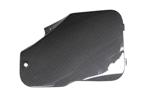 Battery Cover in Glossy Plain Weave Carbon with Fiberglass for Suzuki TL1000R