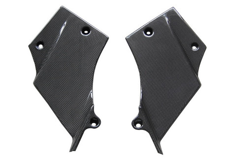 Inner Panels in Glossy Plain Weave Carbon with Fiberglass for Suzuki TL1000R