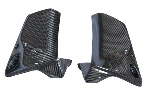 Air Intake Covers in Glossy Plain Weave Carbon with Fiberglass for Suzuki TL1000R
