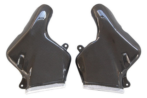 Air Intakes in Glossy Plain Weave Carbon with Fiberglass for Suzuki TL1000R