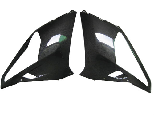 Glossy Plain Weave Carbon Fiber Side Panels for Aprilia RSVR 06-09